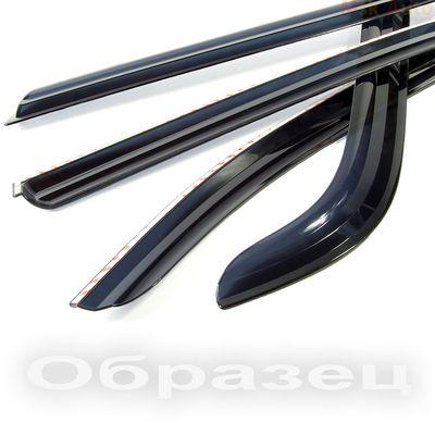Дефлекторы окон (Ветровики) для Hyundai Santa Fe III (2012-) из 6 частей Корея накладные