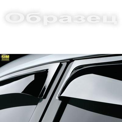 Дефлекторы окон Mitsubishi Lancer X 2007-, Lancer Sportback X 2008-, ветровики накладные