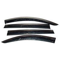 Дефлекторы окон Mercedes-Benz M-Class W164 2005- 2011 с хромированным молдингом, ветровики накладные