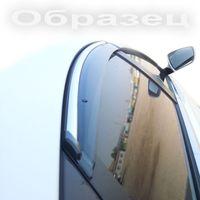 Дефлекторы окон Kia Rio JB хэтчбек 2011- с хромированным молдингом, ветровики накладные