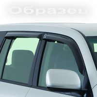 Дефлекторы окон Mitsubishi L200 Double Cab 2015-, ветровики накладные