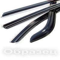Дефлекторы окон (Ветровики) для HYUNDAI GETS хэтчбек 2002- ХРОМ металл накладные