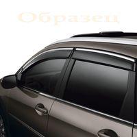 Дефлекторы окон Toyota Camry VI 2006-2011 с хромированным молдингом, ветровики накладные