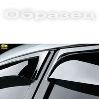 Дефлекторы окон Ford Ranger III Double Cab 2012-, ветровики накладные