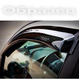 Дефлекторы окон Volkswagen Tiguan 2008- с хромированным молдингом, ветровики накладные