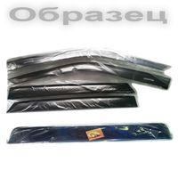 Дефлекторы окон Hyundai Solaris х, б 5 дверей с 2011 г., ветровики накладные