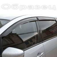 Дефлекторы окон Chevrolet Niva 2002-2009, 2009- БЕЛЫЙ, ветровики накладные