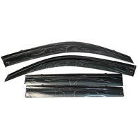 Дефлекторы окон для TOYOTA LAND CRUISER PRADO 150 2009-, LEXUS GX 460, ветровики накладные, с чёрным молдингом