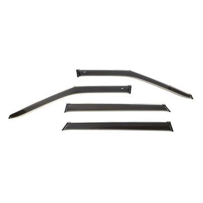 Дефлекторы окон KIA SELTOS ХЭТЧБЕК 2020-, 5 дв., ветровики накладные, с хромированным молдингом