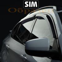 Дефлекторы окон Volkswagen Tiguan 2016-, ветровики накладные