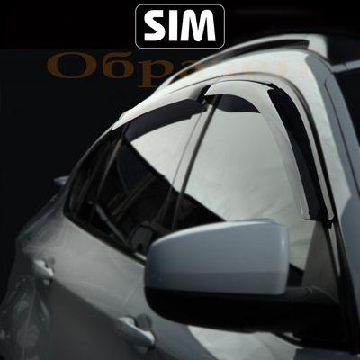 Дефлекторы окон MITSUBISHI OUTLANDER I 2003-2007, AIRTREK, ветровики накладные SIM купить - Интернет-магазин Msk-Auto.com