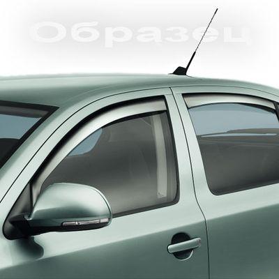 Дефлекторы окон (Ветровики) на Mitsubishi Lancer10 07- HB (Комплект)