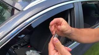 How to install wind deflectors TeamHEKO